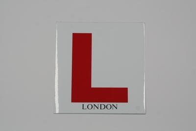 画像1: Lマーク(LONDON)【ステッカー】