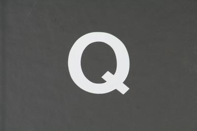 画像1: ナンバーステッカー用文字 『Q』 【ステッカー】