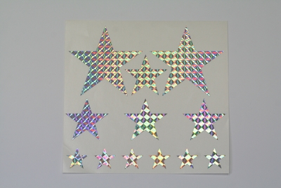 画像1: 星型ステッカーシート